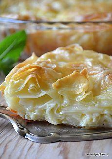 Achma recipe - Recipes of Caucasian cuisine Georgian Cuisine, Georgian Food, Russian Desserts, Russian Recipes, Good Food, Yummy Food, Bread And Pastries, International Recipes, Creative Food