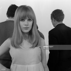 Marianne Faithfull on the set during the recording of the program ''Collars black''