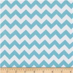 Riley Blake Cotton Jersey Knit Chevron Small Aqua Stoffe, Aqua Stoff, Mode- stoff fef7e43f6f