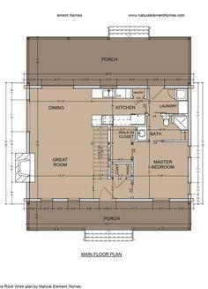 Rock Wren Main Floor - Natural Element Homes