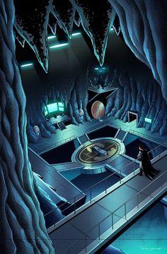 Batcave by Teyowisonte on DeviantArt Batman Artwork, Batman Comic Art, Batman Wallpaper, Marvel Dc Comics, Batman Batcave, Batman And Superman, Batman Stuff, Batwoman, Batgirl