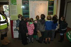 Interactive displays engage children in environmental education at the Braunton Countryside Centre.