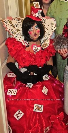 Coolest Queen of Hearts Costume Made in 2 Days!... Coolest Halloween Costume Contest