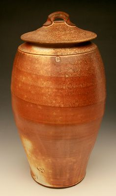 Brandon Phillips  |  Tall canister: wood-fired, kaolin slip.
