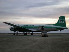 This is FIQM unloading, one of 14 C54s registered in Canada, all to Buffalo Airways. Photo taken at Cambridge Bay.