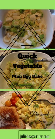 My Quick Vegetable Mini Egg Bake is a personal size microwaved egg bake. Perfect for a single serve meal for the WAHM like me, busy SAHM, or anytime when just a one serving meal is needed. I have a family of five, so I usually make bigger meals. But when I'm home alone for lunch I need a smaller meal just for myself.