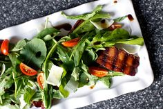 grilled bacon salad with arugula and balsamic | smittenkitchen.com