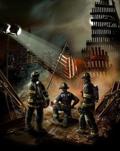 FDNY 911 Memorial Painting Never forget