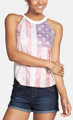 Casual and festive American Flag tank