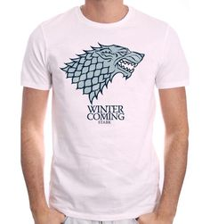 T-shirt Game Of Thrones - Winter is Coming. Sous licence officielle Game Of Thrones T-shirt Game Of Thrones - Winter is Coming Col rond Manches courtes Sérig. Iron Man Marvel, Dc Comics, Game Of Thrones Winter, Winter Is Coming, T Shirt, Boutique, Officiel, Mens Tops, Licence