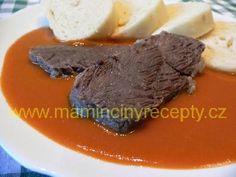 Rajská omáčka s vínem – Maminčiny recepty Steak, Beef, Food, Meat, Meal, Eten, Steaks, Meals, Ox