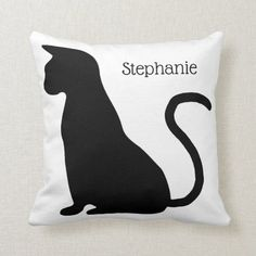 Cat Silhouette, Silhouette Design, Bathroom Mat Sets, Cat House Diy, 4th Of July Party, Custom Pillows, Cute Cats, Cat Lovers, Throw Pillows