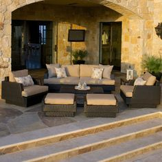Portofino Comfort 7-piece Deep Seating Set in Espresso- 25