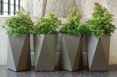 Inner Gardens Fiber Cement Arrow Planter outdoor-pots-and-planters Outdoor Planters, Garden Planters, Planter Pots, Tall Planters, Planter Ideas, Contemporary Planters, Modern Planters, Concrete Pots, Concrete Planters
