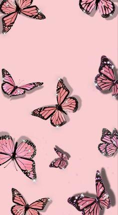 Pink Glitter Wallpaper, Pink Wallpaper Girly, Pink Wallpaper Backgrounds, Butterfly Wallpaper Iphone, Iphone Wallpaper Tumblr Aesthetic, Cute Patterns Wallpaper, Iphone Background Wallpaper, Aesthetic Pastel Wallpaper, Aesthetic Wallpapers