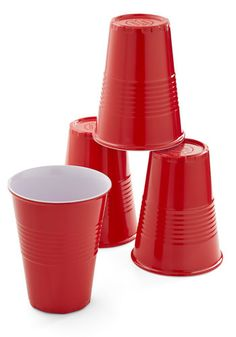 Put to Reuse Glass Set. Give landfills - and your pocketbook - a break by using and reusing these red party cups by One Hundred 80 Degrees! #red #modcloth