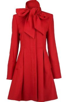 red bow tied coat ♥✤ | Keep the Glamour | BeStayBeautiful