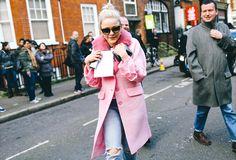 Street Style: London Fashion Week Fall 2015 – Vogue - Francesca Burns, Miu Miu Coat