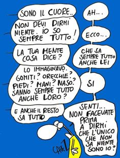 Ah… Non devi dirmi niente. Io so sempre tutto… Take A Smile, Funny Blogs, Italian Quotes, Snoopy, My Mood, Quotations, Have Fun, Writer, Lol