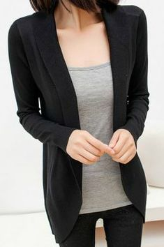 closet staple: black cardigan