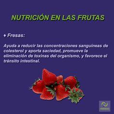 Fresas: Tiene un elevado contenido en vitamina C, potasio, magnesio y biotina; además de vitamina E, yodo, silicio, pectina, fósforo y beta carotenos. #VitalidadFísica