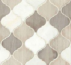 White Stone Moroccan Pattern Mosaic Tile Kitchen Backsplash