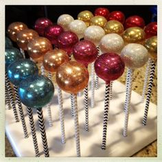 Gem Cake Pops made by Takes the Cake -- displayed in a KC Bakes Cake Pop Stand.