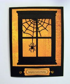 Memory Box dies- Delicate Web 98706, scary Spiders 98704 Poppystamps die- Grand Madison Window 815  Ann Greenspan's Crafts