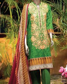 e4657c1485 Junaid Jamshed Lawn Collection Unstitched 3 Piece Suit in Red Chromsy  S-16-100