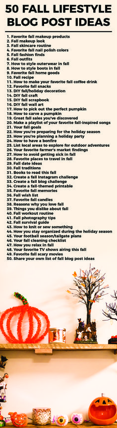 Autumn is right around the corner! Here are 50 fall blog post ideas that you can use on your own blog or share with others.