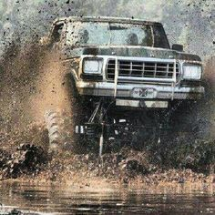 Mudding done right in a ford