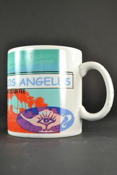 Starbucks Los Angeles Mug 1998 Original Ceramic Large 16oz Coffee Hot Chocolate #Starbucks