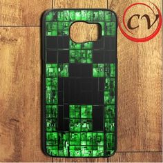 Minecraft Creeper Face Samsung Galaxy S6 Edge Plus Case