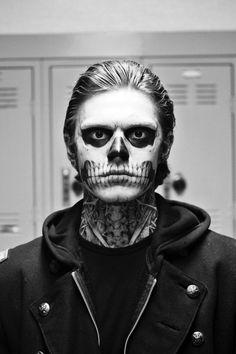 halloween schminke ideen männer skelleton makeup