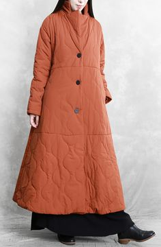 New orange casual outfit plus size Coats stand collar thick winter coats Plus Size Down Coats, Sweater Fashion, Fashion Coat, Coat Stands, Orange Fashion, Winter Coats, Coats For Women, Plus Size Fashion, Casual Outfits
