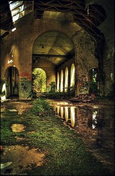 Beautiful But Scary Abandoned Buildings In The World - vintagetopia Abandoned Mansions, Abandoned Houses, Abandoned Places, Abandoned Castles, Haunted Places, Abandoned Library, Derelict Places, Abandoned Train, Urban Exploration