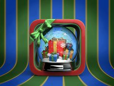 a Christmas iOS App Icon for a gift organizing app.
