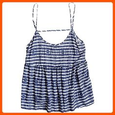 Roxy Junior's Retro Gold Printed Tank Top, Blue Depths Olmeque Stripe, L - All about women (*Amazon Partner-Link)