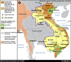 Carte de la guerre d'Indochine