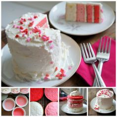Prepared a Yummy and colorful valentine cake. So what have you done for your valentine? ♥㋡  #Valentine #14feb2014 #VDay #HappyValentinesDay  #valentinecake