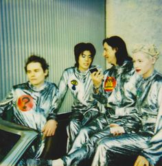 The Smashing Pumpkins, in space suits. Perfect.