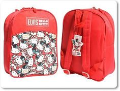 Brand new kids girls large hello kitty #elvis #backpack bag #school bag red,  View more on the LINK: 	http://www.zeppy.io/product/gb/2/162126278756/