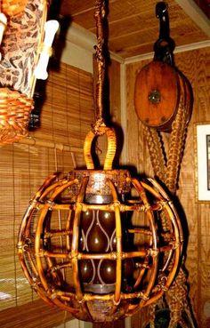 Tikiskip's / Kahiki lamp,Tiki bar lights, fishing float light -- Tiki Central
