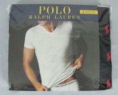 Polo Ralph Lauren mens 3 pack t shirt slim fit v necks tees size M NEW #PoloRalphLauren #BasicTee 29.99