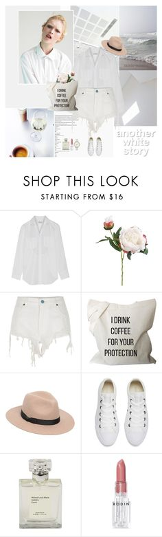 """""""Another White Story"""" by rainie-minnie ❤ liked on Polyvore featuring Maison Margiela, John Lewis, River Island, Lack of Color, Converse, Rodin and Skagen"""