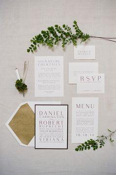 Modern Green and White Same Sex Wedding Invitiation