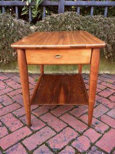 Richmond: Vintage Mid Century Solid Walnut Mersman End Table $75 - http://furnishlyst.com/listings/91503