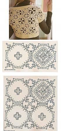 Crochet motifs top