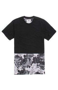 black print t'shirt