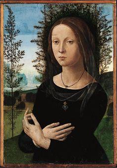 Лоренцо ди Креди-Портрет дамы с кольцом